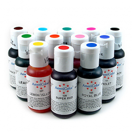 Set de 12 colorantes en gel Americolor