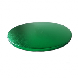 Base redonda verde 35 cm grosor 12 mm