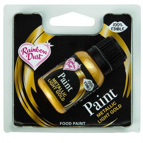 Pintura metalizada oro claro 25 ml Rainbow Dust