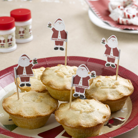 Set 20 toppers Santa Claus